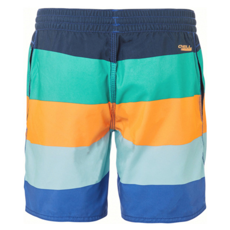 O'Neill Vert Horizon Kids swimsuit Blue Orange Colorful
