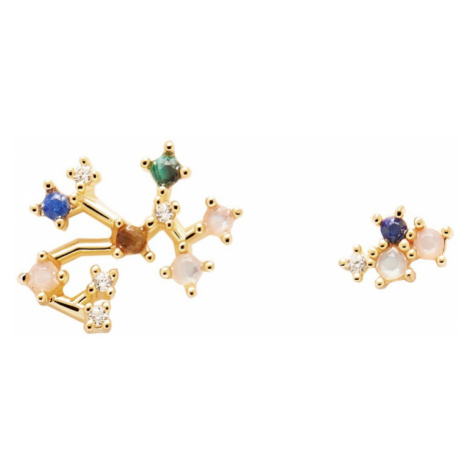 P D PAOLA Gold Plated Sagittarius Constellation Earrings