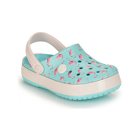 Crocs CROCBAND MULTIGRAPHIC CLOG K girls's Children's Clogs (Shoes) in Blue