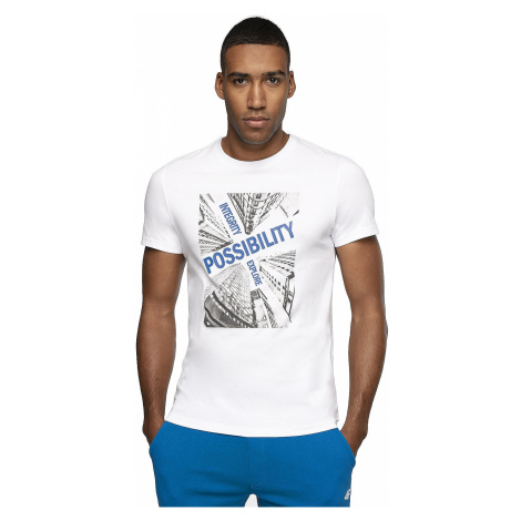 T-Shirt 4F H4Z19-TSM005 - 10S/White - men´s