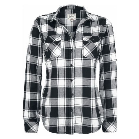 Brandit - Amy Flannel Checkshirt - Girls Blouse - black-white