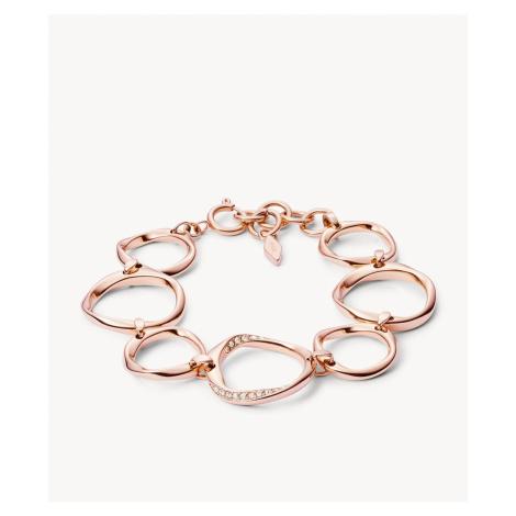 Fossil Women's Twist Rose-Gold-Tone Steel Bracelet - Rose Gold
