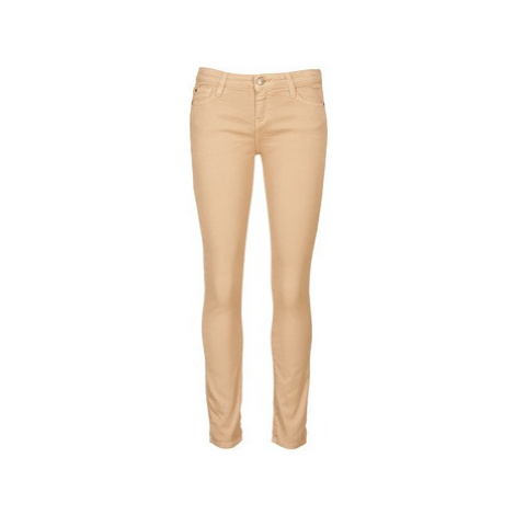 Acquaverde SCARLETT women's Cropped trousers in Beige