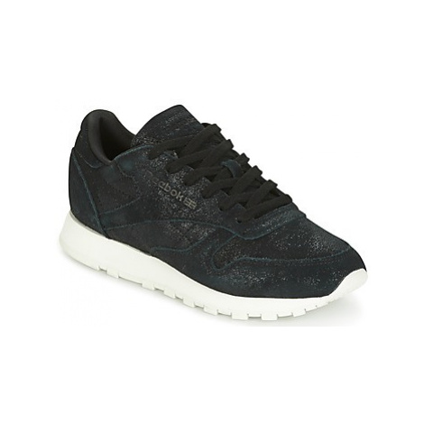 Reebok Classic CLASSIC LEATHER SHIMMER women's Shoes (Trainers) in Black