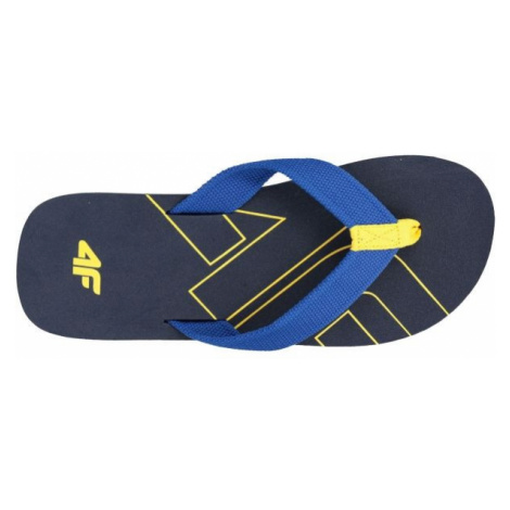 4F KLM003 dark blue - Men's flip-flops