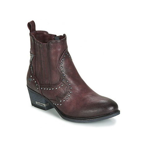 Mustang 1346502-55 women's Low Ankle Boots in Bordeaux