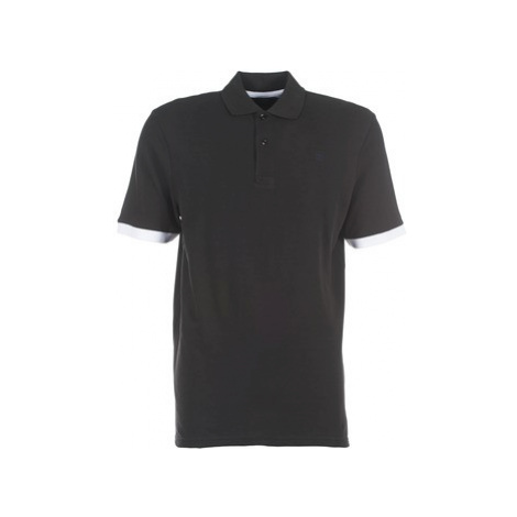 G-Star Raw PITRO CONTRAST POLO T S/S men's Polo shirt in Black