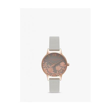 Olivia Burton Women's Lace Detail Leather Strap Watch