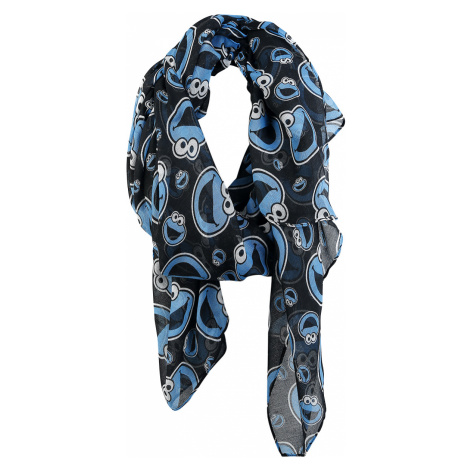 Sesame Street - Cookie Monster Faces - Scarf - black-blue-white