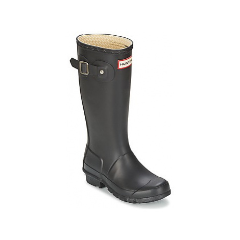 Hunter Original Kids girls's Children's Wellington Boots in Black