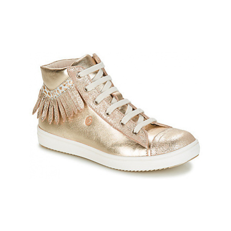 GBB FRANCESCA girls's Children's Shoes (High-top Trainers) in Gold
