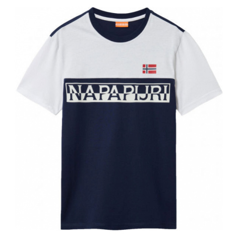 Napapijri SARAS dark blue - Men's T-Shirt