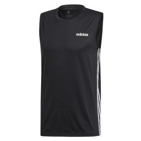 adidas DESIGN2MOVE SLEEVELESS 3S black - Men's tank top