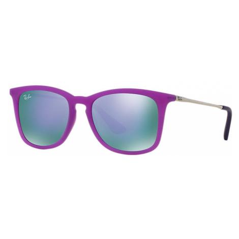 Ray-Ban Rj9063s Unisex Sunglasses Lenses: Violet, Frame: Silver - RJ9063S 70084V 48-16