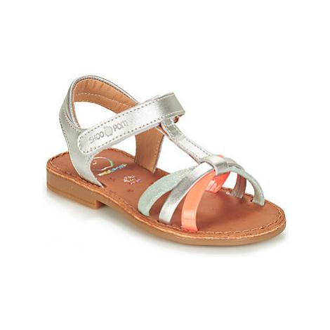 Shoo Pom HAPPY SALOME LAMINATO girls's Children's Sandals in Silver