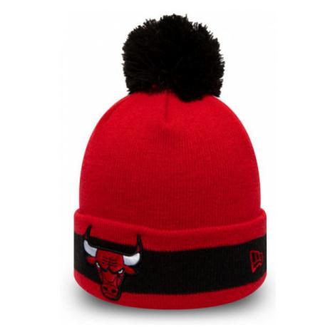 New Era NBA CHARACTER STRIPE KNIT CHICAGO BULLS red - Men's winter club hat