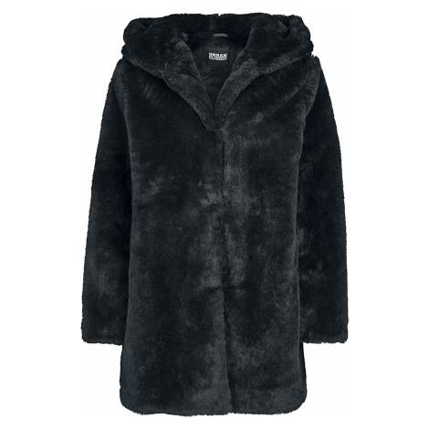 Urban Classics - Ladies Hooded Teddy Coat - Girls jacket - black
