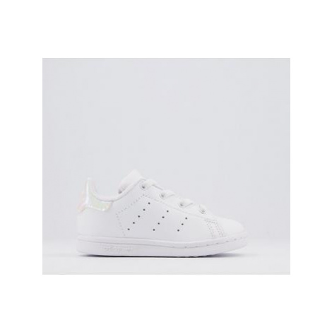 Adidas Stan Smith Toddler Trainers WHITE IRIDESCENT