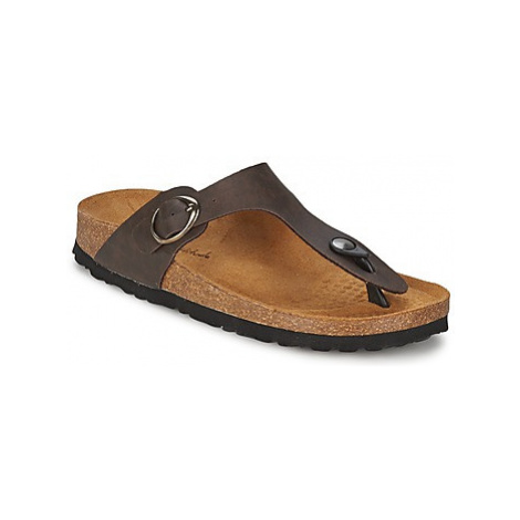 Casual Attitude PILTOBLE women's Flip flops / Sandals (Shoes) in Brown