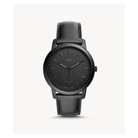 Fossil Men's The Minimalist Two-Hand Black Leather Watch