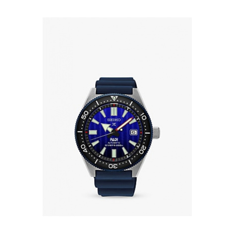 Seiko SPB071J1 Men's Prospex Divers Automatic Date Silicone Strap Watch, Blue