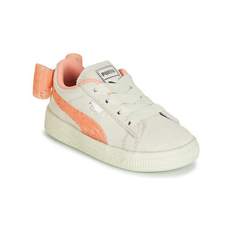 Puma INF SUEDE BOW JELLY AC.WHI girls's Children's Shoes (Trainers) in Beige