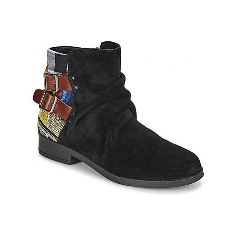 Desigual OTTAWA PATCH women's Mid Boots in Black