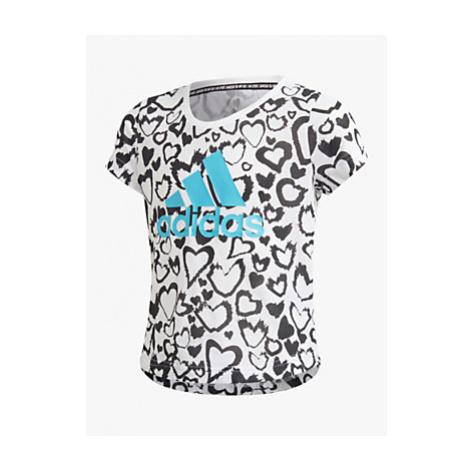 Adidas Girls' Graphic Heart Print T-Shirt