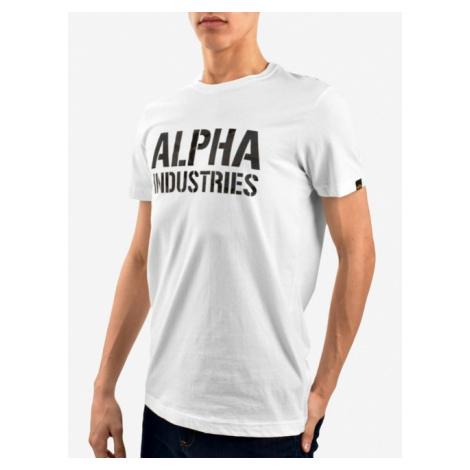 Alpha Industries Camo Print Tee White