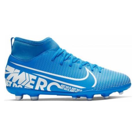 Nike JR SUPERFLY 7 CLUB FG/MG blue - Boys' football boots
