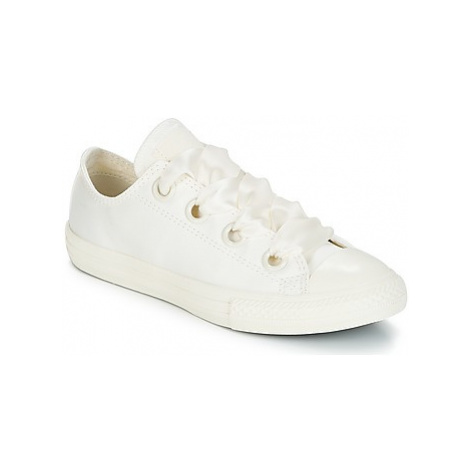 Converse Chuck Taylor All Star Big Eyelet-Slip girls's Children's Shoes (Trainers) in White