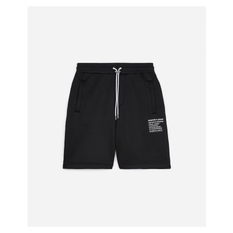 The Kooples - Black shorts in cotton with printed logo - MEN The Kooples Sport