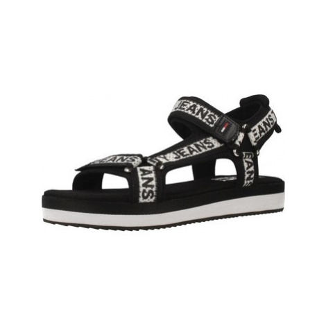 Tommy Jeans EN0EN00568 women's Sandals in Black Tommy Hilfiger