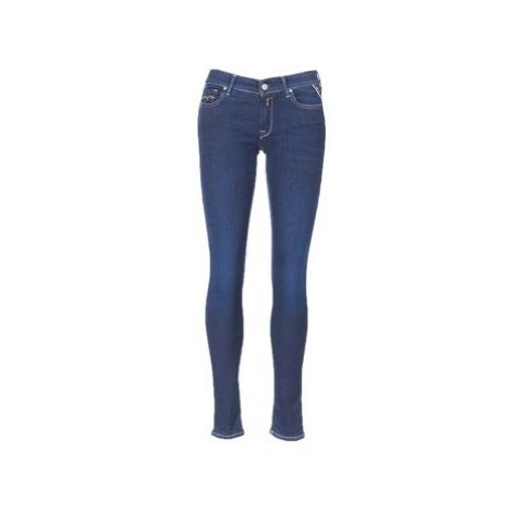 Replay LUZ HYPERFLEX women's Skinny Jeans in Blue