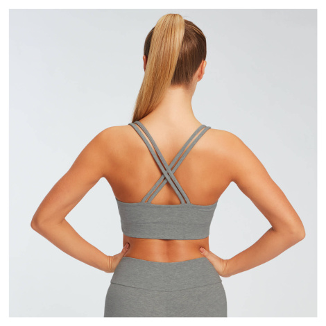 MP Women's Essentials Jersey Bra - Grey Marl Myprotein