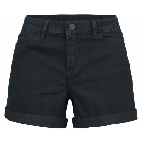 Noisy May - Be Lucy Fold Shorts - Jeans shorts - black