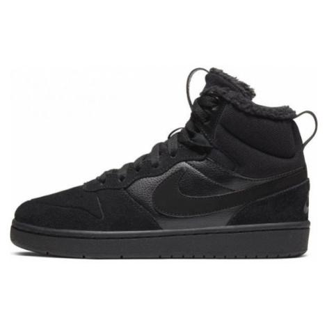 Nike COURT BOROUGH MID 2 BOOT BG black - Kids' leisure footwear