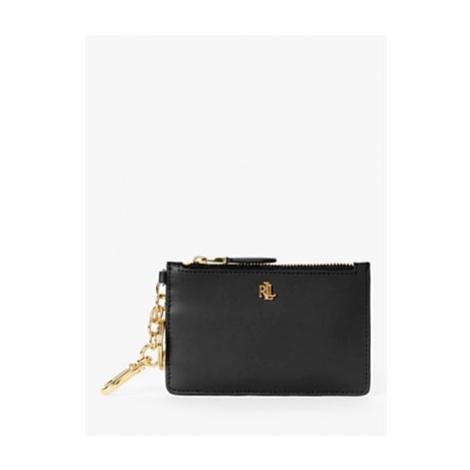 Lauren Ralph Lauren Dryden Leather Zip Card Holder, Black