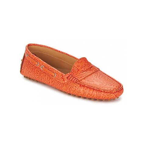 Etro 3986 women's Loafers / Casual Shoes in Orange