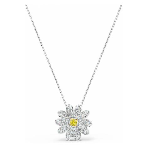 Eternal Flower Pendant, Yellow, Mixed metal finish Swarovski