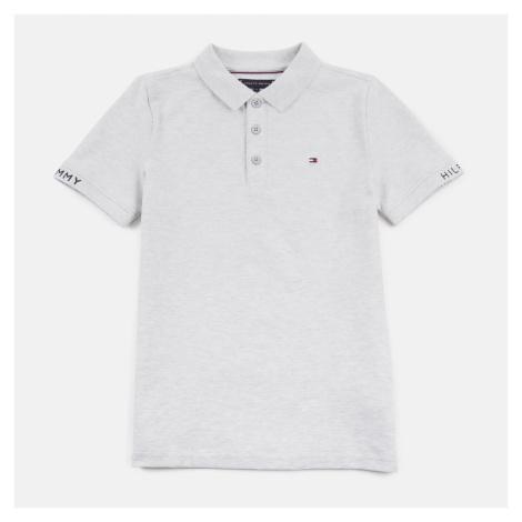 Tommy Hilfiger Boys' Slim Fit Polo-Shirt - Light Grey Heather