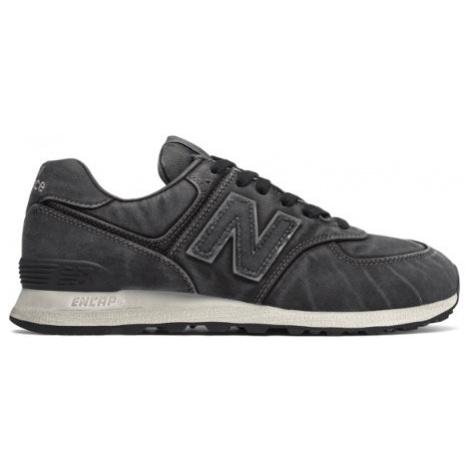 New Balance 574 Shoes - Black/Sea Salt