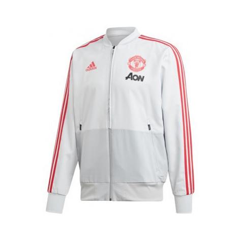Manchester United Training Presentation Jacket - Grey Adidas