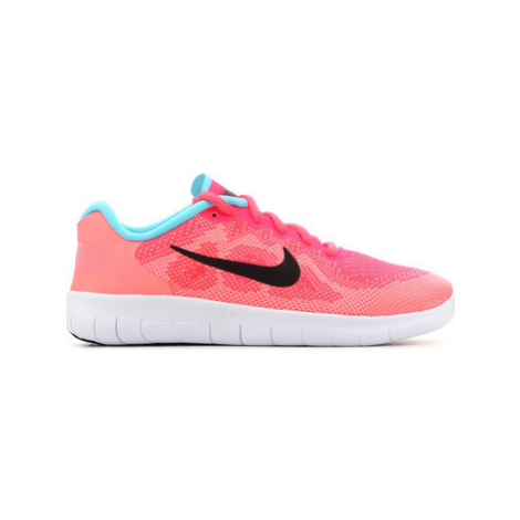 Nike Free RN 2017 (GS) 904258 600 girls's Children's Shoes (Trainers) in Pink