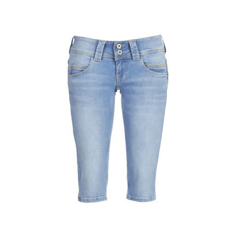 Pepe jeans VENUS CROP women's Cropped trousers in Blue