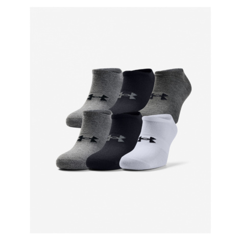 Under Armour Essentials Socks 6 pairs Black White Grey