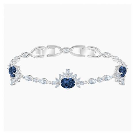 Palace Bracelet, White, Rhodium plated Swarovski