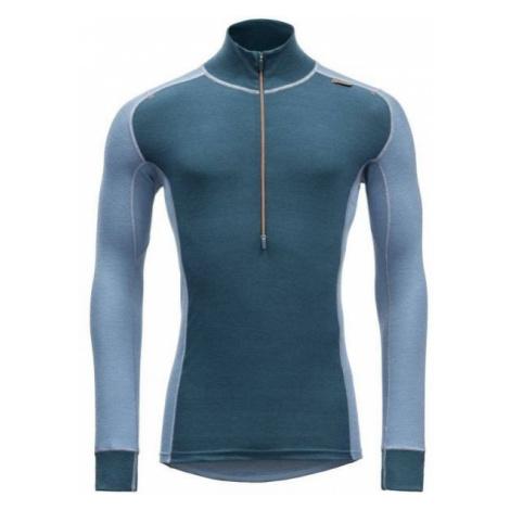 Devold WOOL MESH MAN HALF ZIP NECK blue - Men's functional T-shirt