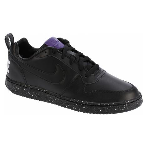 shoes Nike Court Borough Low SE - Black/Black/White/Court Purple