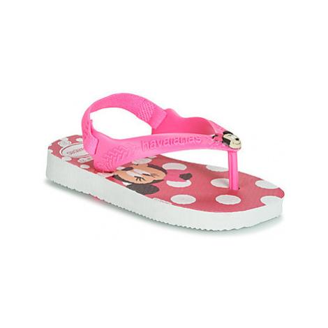 Havaianas BABY DISNEY CLASSICS girls's Children's Flip flops / Sandals in Pink
